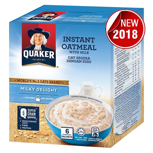 Yến Mạch Ăn Liền Quaker - Vị Milky Delight 180g