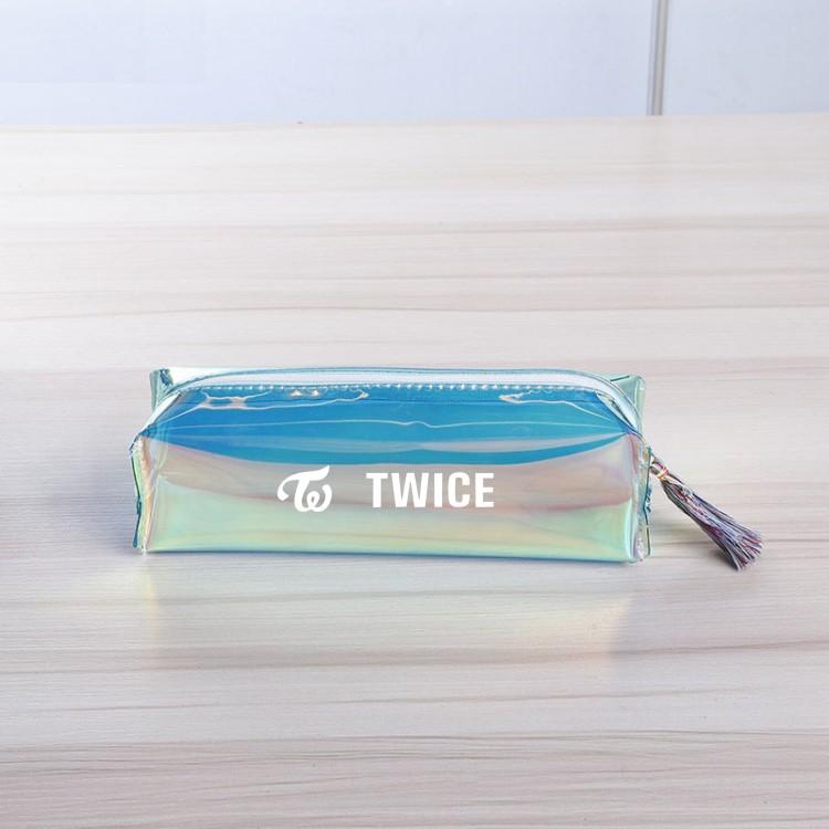 Túi đựng bút Twice laser trong suốt ONCE