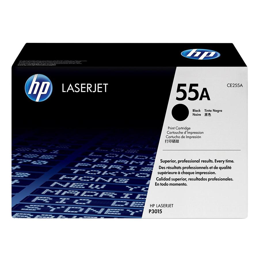 Mực in Laser HP 55A Black Original Print Cartridge Đen (Máy in HP LaserJet P3015/P3015D/P3015DN/P3015X/HP LaserJet Pro MFP M521DN/M621DW/HP...