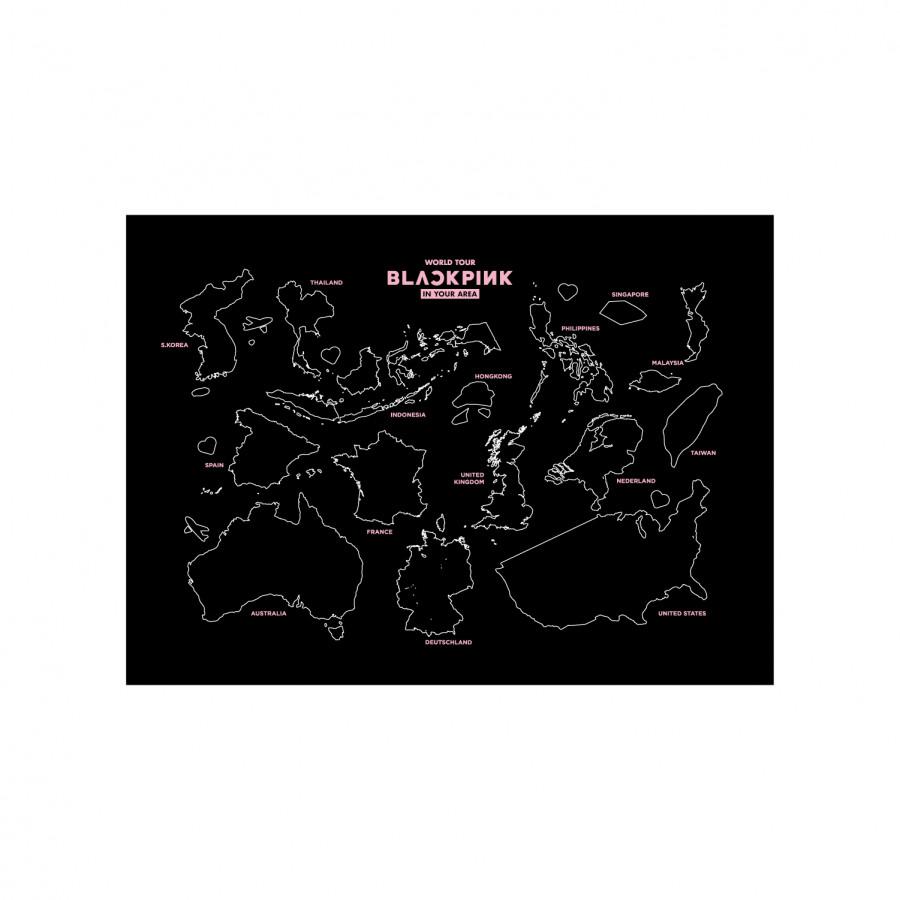 BLACKPINK WORLD TOUR TOUR MAP - Hàng chính hãng