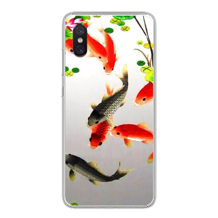 Ốp lưng cho Xiaomi Mi 8 Pro - 0150 FISHES03 - Silicone dẻo - Hàng Chính Hãng