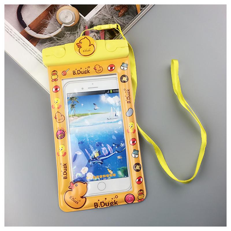 Túi chống nước WaterProof cartool chống chìm cho điện thoại 6 inch chuẩn chông nước IPx8 cao cấp (Màu ngẫu nhiên)