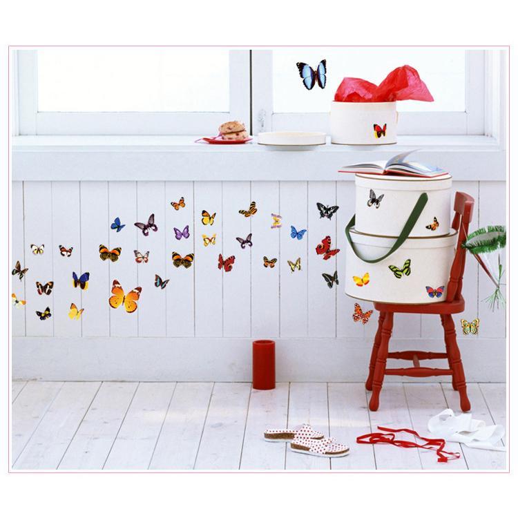 Decal dán tường đàn bướm AY1043A