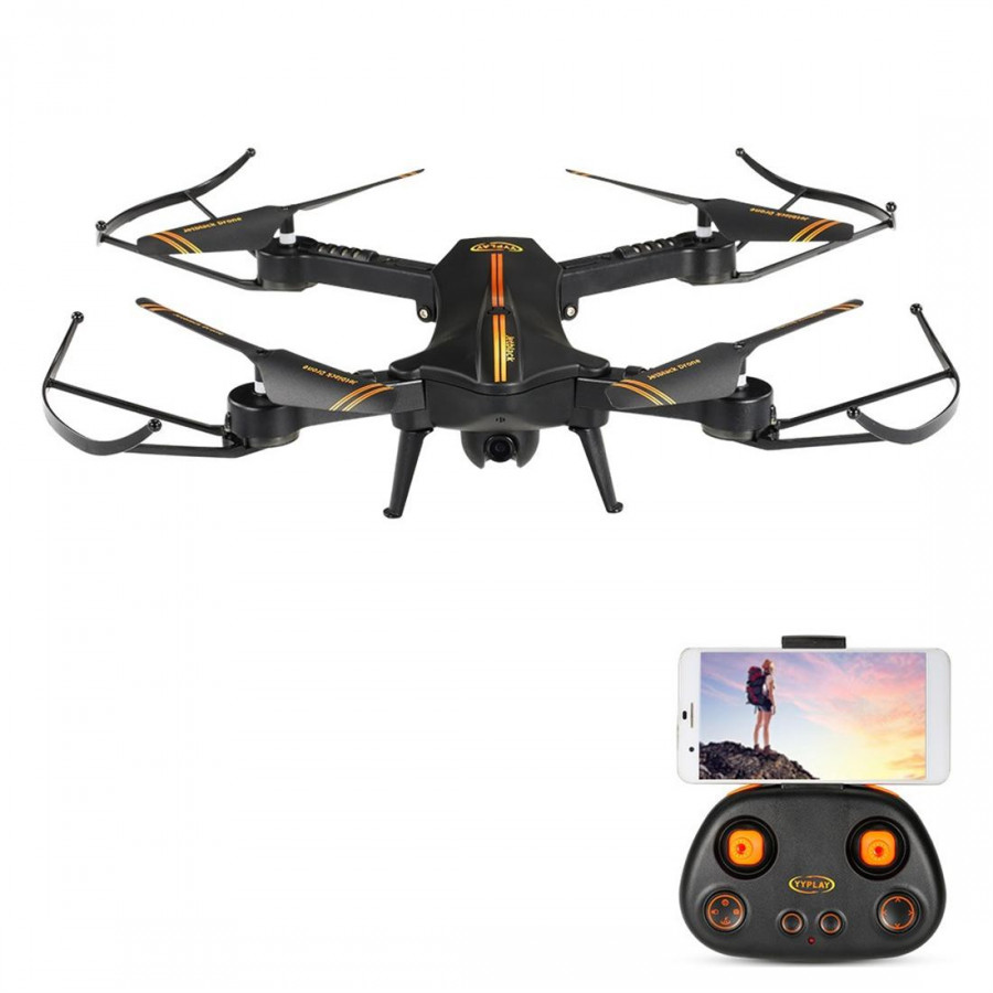 Drone Quadcopter RC Jetblack Selfie Wifi FPV