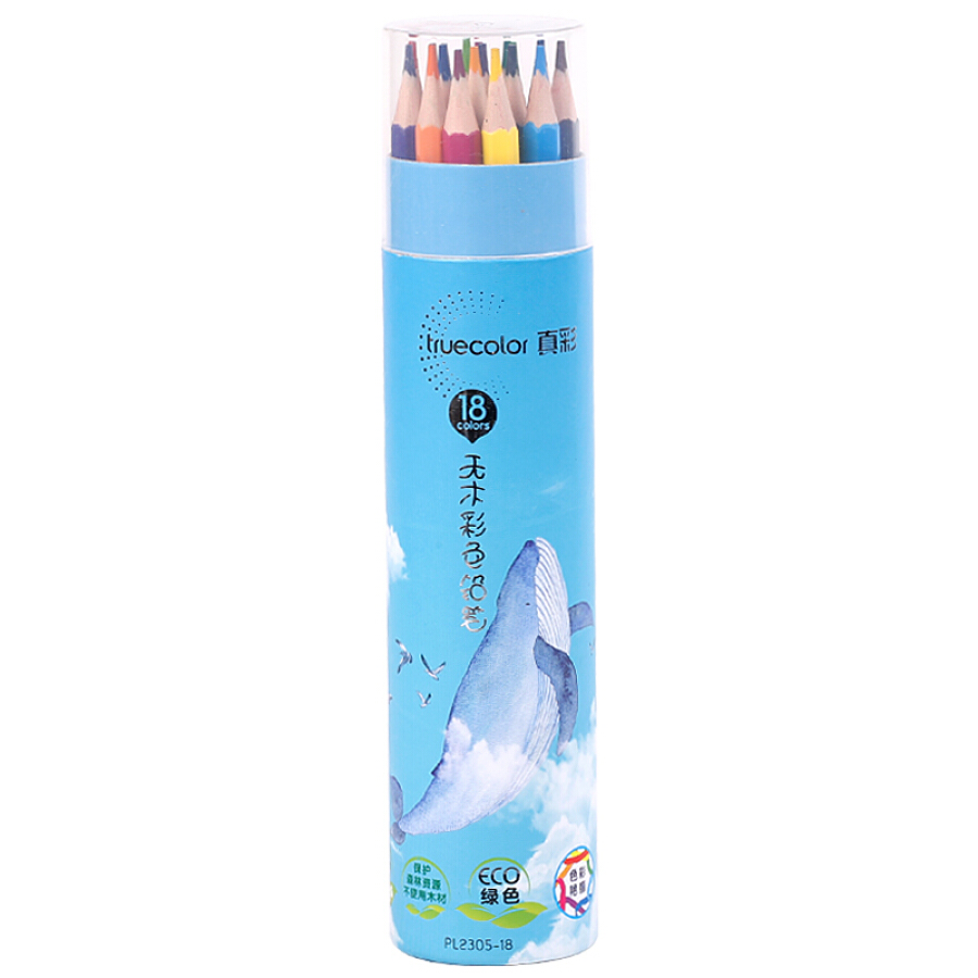 TRUECOLOR 12 color woodless hexagonal color pencil color lead color fill color pen painting color pen student adult art sketch pen blue barrel /...