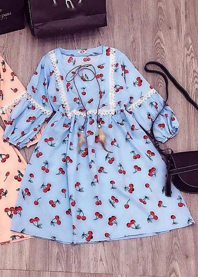 Đầm Babydoll Tay Lỡ Vải Kate Mịn - Freesize