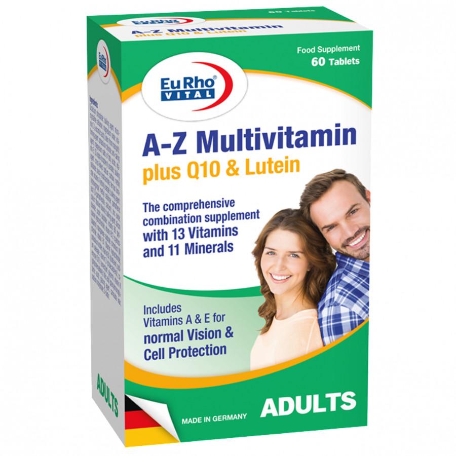 Thực phẩm chức năng EuRho Vital A-Z Multivitamin Plus Q10  Lutein - 1824303 , 4733294905633 , 62_13457350 , 312000 , Thuc-pham-chuc-nang-EuRho-Vital-A-Z-Multivitamin-Plus-Q10-Lutein-62_13457350 , tiki.vn , Thực phẩm chức năng EuRho Vital A-Z Multivitamin Plus Q10  Lutein