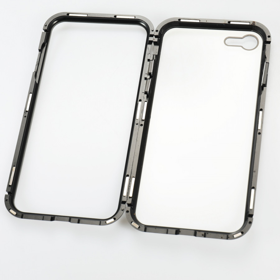 Metal-rimmed Mobile Phone Case Hardened Glass Magnetic Adsorption Protection Smartphone Cover Bumper Luxury Aluminum - 2289658 , 9822075631597 , 62_14703816 , 256000 , Metal-rimmed-Mobile-Phone-Case-Hardened-Glass-Magnetic-Adsorption-Protection-Smartphone-Cover-Bumper-Luxury-Aluminum-62_14703816 , tiki.vn , Metal-rimmed Mobile Phone Case Hardened Glass Magnetic Adsorption