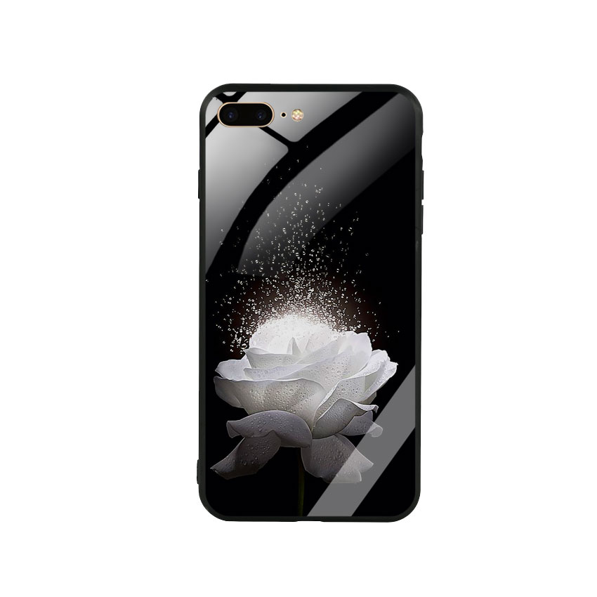 Ốp Lưng Kính Cường Lực cho điện thoại Iphone 7 Plus / 8 Plus -  0324 ROSE03