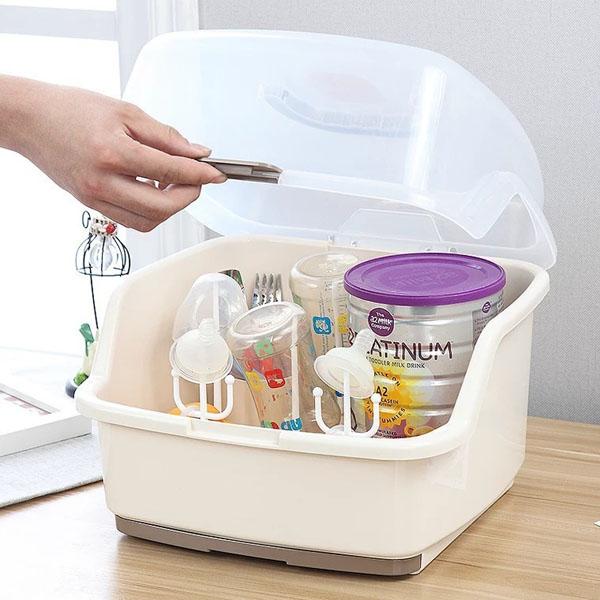 Khay úp ly, bình sữa có nắp đậy Nhựa an toàn - 1858465 , 9999349044497 , 62_14933764 , 310000 , Khay-up-ly-binh-sua-co-nap-day-Nhua-an-toan-62_14933764 , tiki.vn , Khay úp ly, bình sữa có nắp đậy Nhựa an toàn