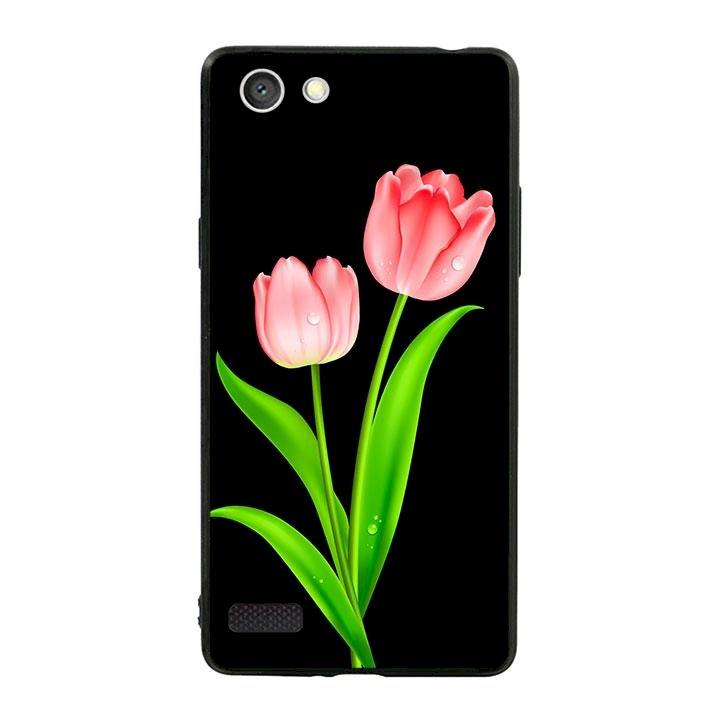 Ốp lưng viền TPU cho dành cho Oppo Neo 7 - Hoa Tulip 01