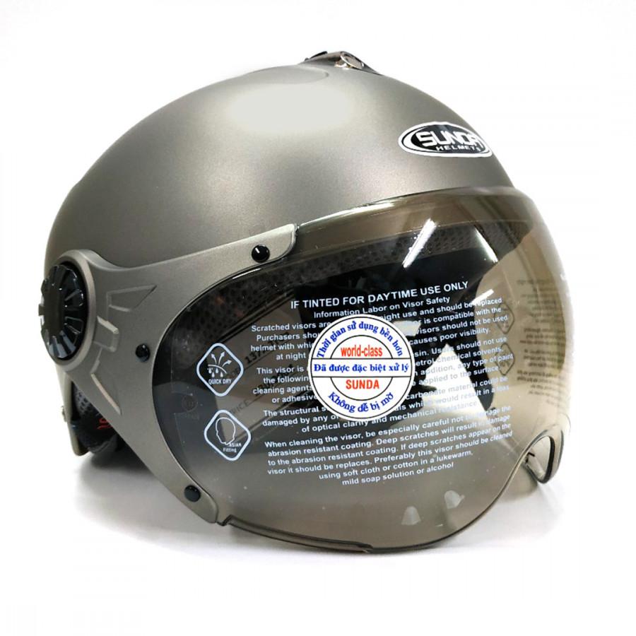 Mũ bảo hiểm có kính SUNDA 137A - 9907519 , 7343143173372 , 62_19760755 , 390000 , Mu-bao-hiem-co-kinh-SUNDA-137A-62_19760755 , tiki.vn , Mũ bảo hiểm có kính SUNDA 137A