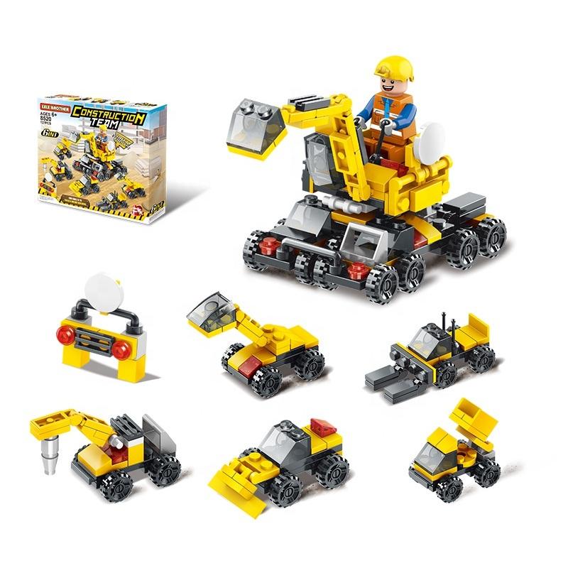 Bộ lắp ráp đội thi công công trình Construction Team 6in1 Lele Brother (8520)
