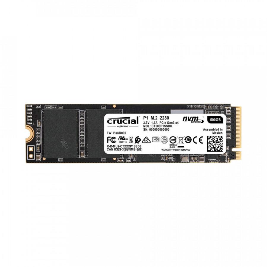 Ổ cứng SSD Crucial P1 500GB M.2 PCIe Gen3 x4 NVMe 3D-NAND QLC CT500P1SSD8 - Hàng Chính Hãng