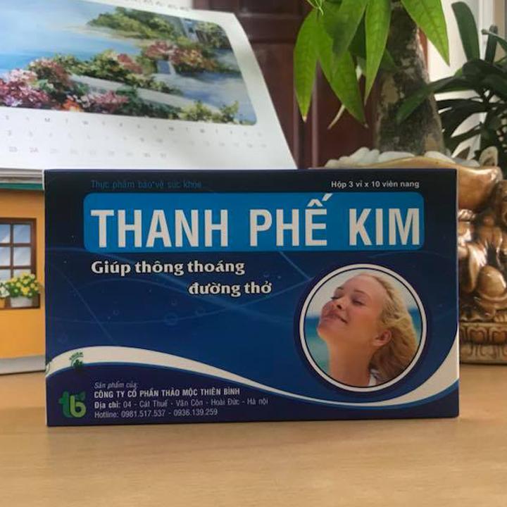 Thực phẩm chức năng bảo vệ sức khỏe Thanh Phế Kim