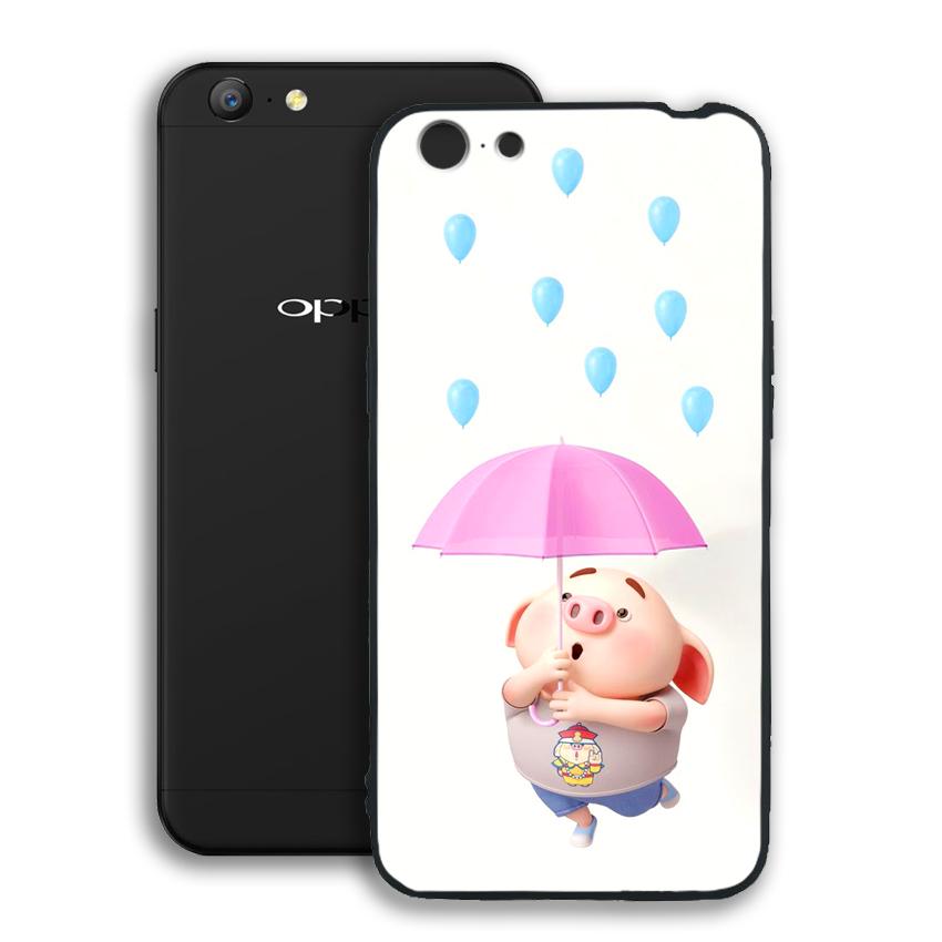 Ốp lưng viền TPU cho điện thoại Oppo A71 - 02068 0523 PIG26 - Hàng Chính Hãng
