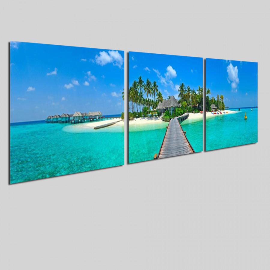 Bộ tranh 3 tấm phong cảnh biển tuyệt đẹp - tranh gỗ treo tường - dạng hình vuông từng tấm - 2148320 , 6727400887997 , 62_13698689 , 1300000 , Bo-tranh-3-tam-phong-canh-bien-tuyet-dep-tranh-go-treo-tuong-dang-hinh-vuong-tung-tam-62_13698689 , tiki.vn , Bộ tranh 3 tấm phong cảnh biển tuyệt đẹp - tranh gỗ treo tường - dạng hình vuông từng tấm