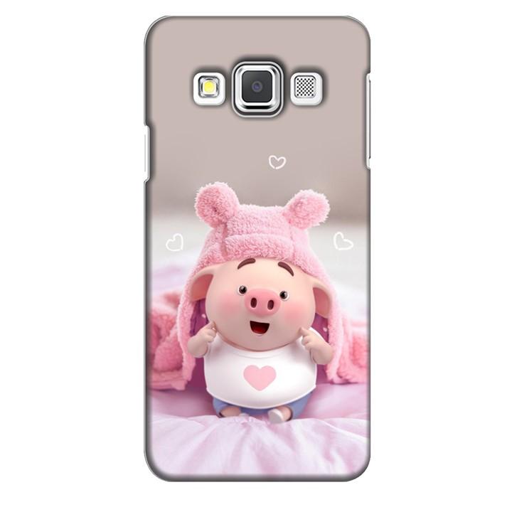 Ốp lưng nhựa cứng nhám dành cho Samsung Galaxy A3 in hình Heo Con Làm Duyên