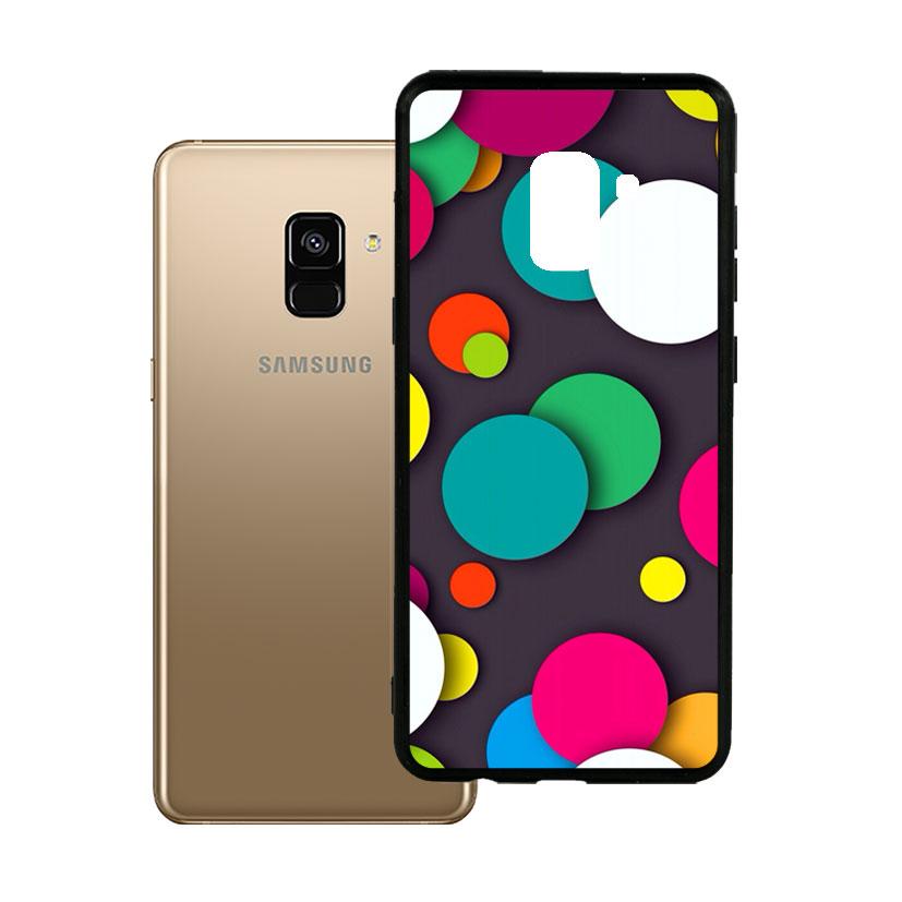Ốp lưng viền TPU cao cấp dành cho Samsung A8 2018 Plus - Hoa Gió 07
