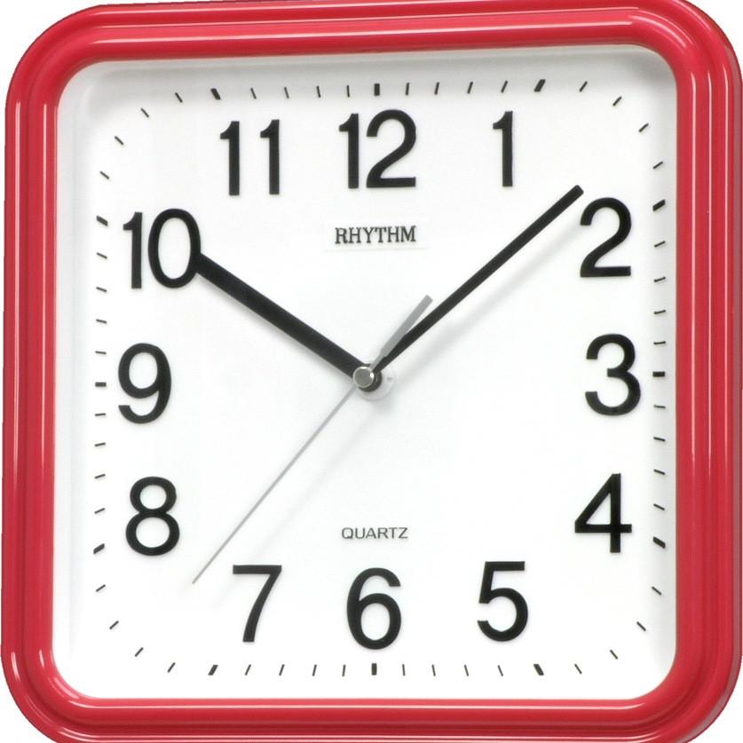 Đồng hồ treo tường Rhythm CMG450NR01, dùng pin,  vỏ nhựa, màu đỏ, kích thước 25.0 x 25.0 x 4.5cm - 789960 , 8225483474823 , 62_12379903 , 550000 , Dong-ho-treo-tuong-Rhythm-CMG450NR01-dung-pinn-vo-nhua-mau-do-kich-thuoc-25.0-x-25.0-x-4.5cm-62_12379903 , tiki.vn , Đồng hồ treo tường Rhythm CMG450NR01, dùng pin,  vỏ nhựa, màu đỏ, kích thước 25.0 x 2