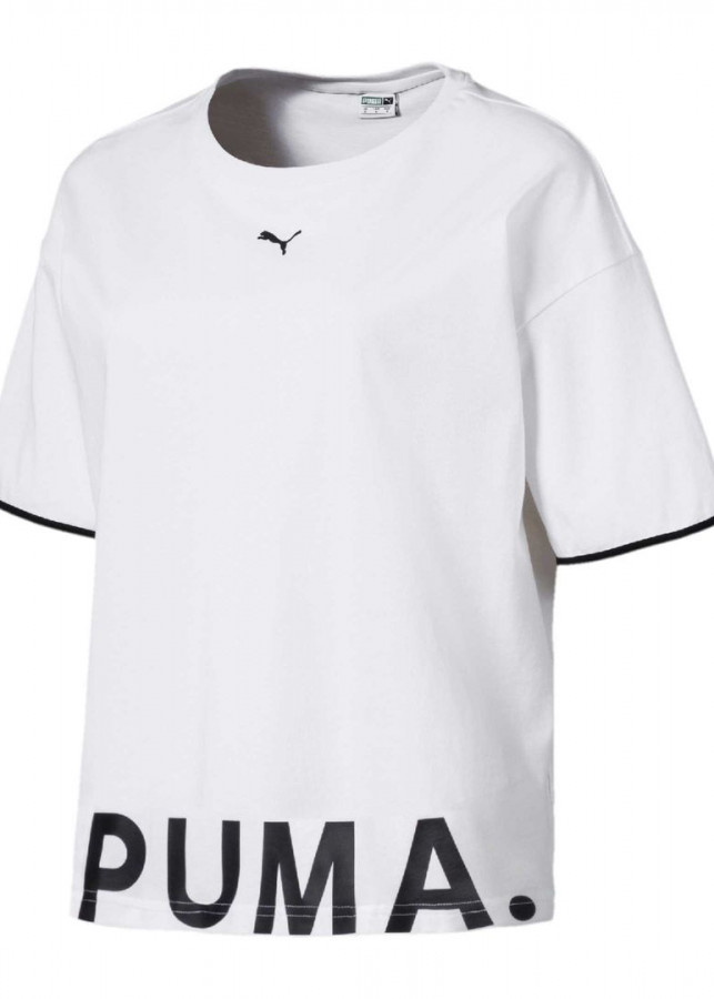 Áo thun nữ Puma Chase Cotton (trắng - đen)