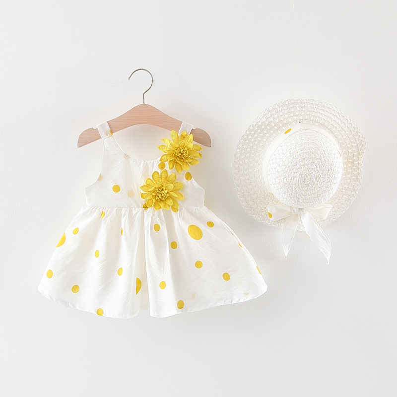 Váy đầm đi biển cho bé gái tặng kèm mũ MS9