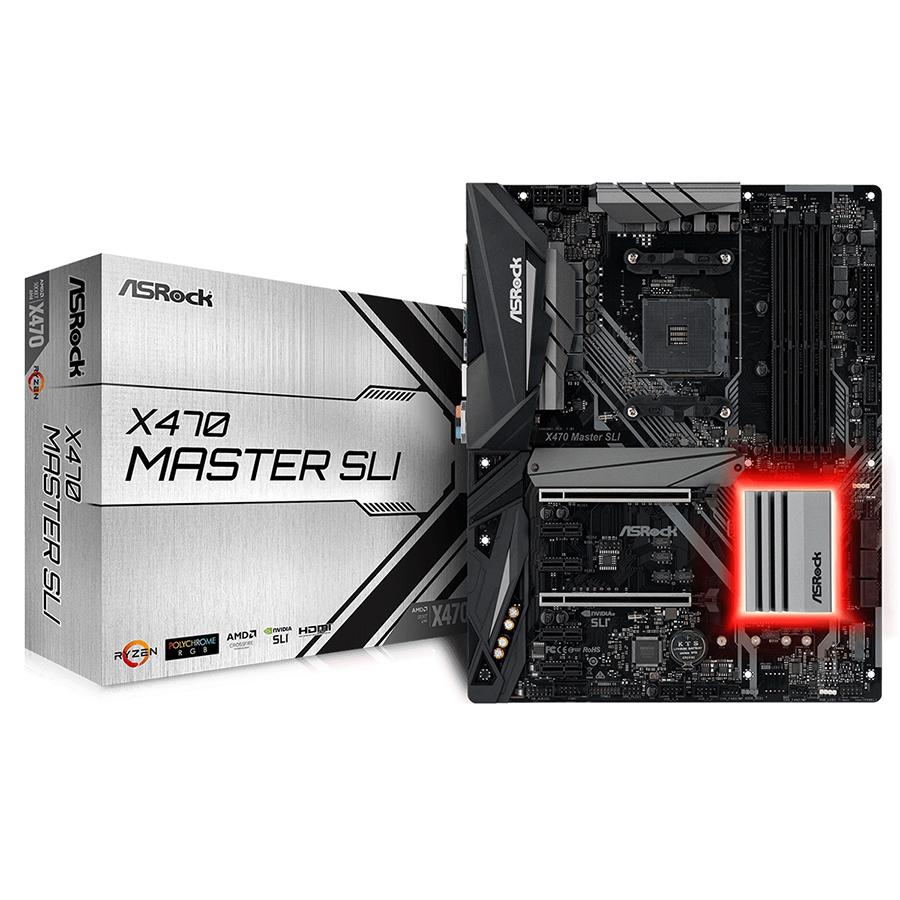 Bo Mạch Chủ Mainboard ASRock X470 Master SLI AMD AM4 Socket Ryzen Series CPUs - Hàng Chính Hãng - 1376963 , 5516220199509 , 62_6654731 , 3990000 , Bo-Mach-Chu-Mainboard-ASRock-X470-Master-SLI-AMD-AM4-Socket-Ryzen-Series-CPUs-Hang-Chinh-Hang-62_6654731 , tiki.vn , Bo Mạch Chủ Mainboard ASRock X470 Master SLI AMD AM4 Socket Ryzen Series CPUs - Hàng