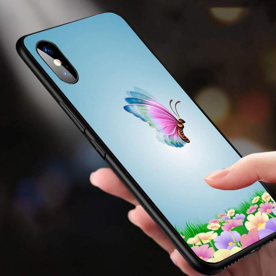 Ốp Lưng Dành Cho Máy Iphone XS -Ốp Ảnh Bướm Nghệ Thuật 3D Tuyệt Đẹp -Ốp  Cứng Viền TPU Dẻo Cao Cấp - MS BM0010