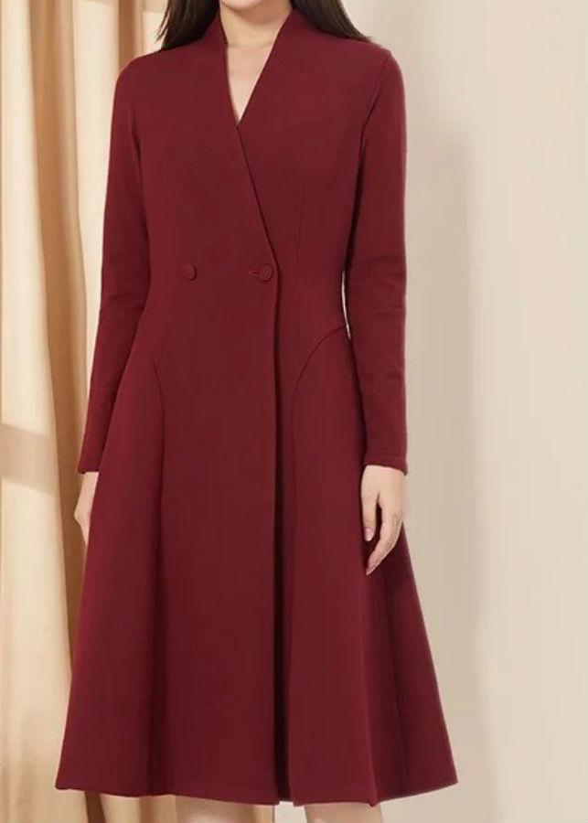 Đầm Nữ Tay Dài - Đỏ