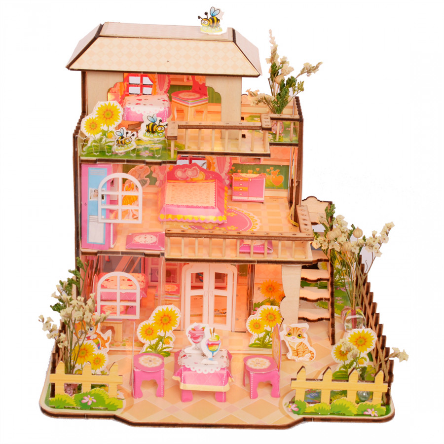 Bộ Lắp Ghép Mô Hình Nhà Gỗ 3D Merry Puzzle BM-520 - 1709386 , 2892378944646 , 62_11865420 , 505000 , Bo-Lap-Ghep-Mo-Hinh-Nha-Go-3D-Merry-Puzzle-BM-520-62_11865420 , tiki.vn , Bộ Lắp Ghép Mô Hình Nhà Gỗ 3D Merry Puzzle BM-520