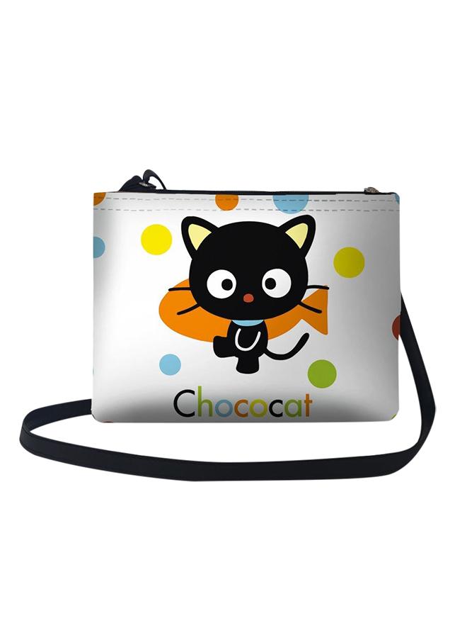 Túi Đeo Chéo Nữ In Hình Mèo Chococat - TUCT091 (24 x 17 cm)