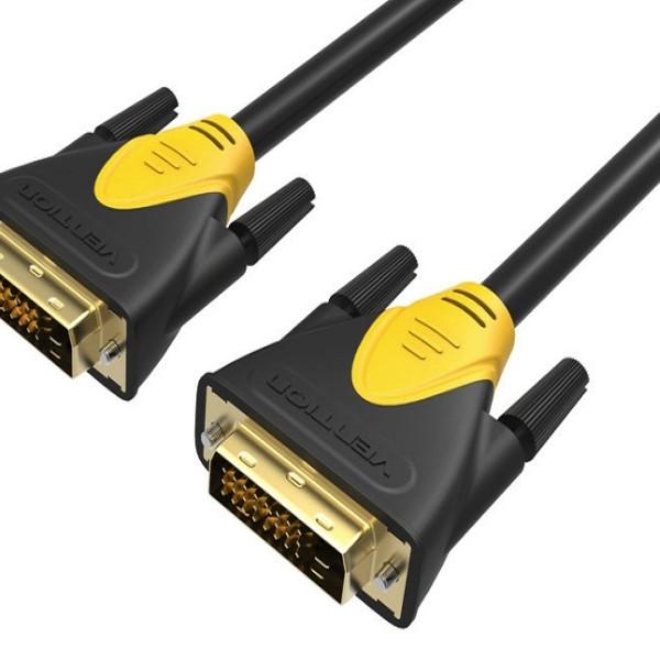 Cáp DVI dài 1,5m Vention VAD-A03 chính hãng đầu nối mạ vàng 24k giúp đảm bảo tiếp xúc