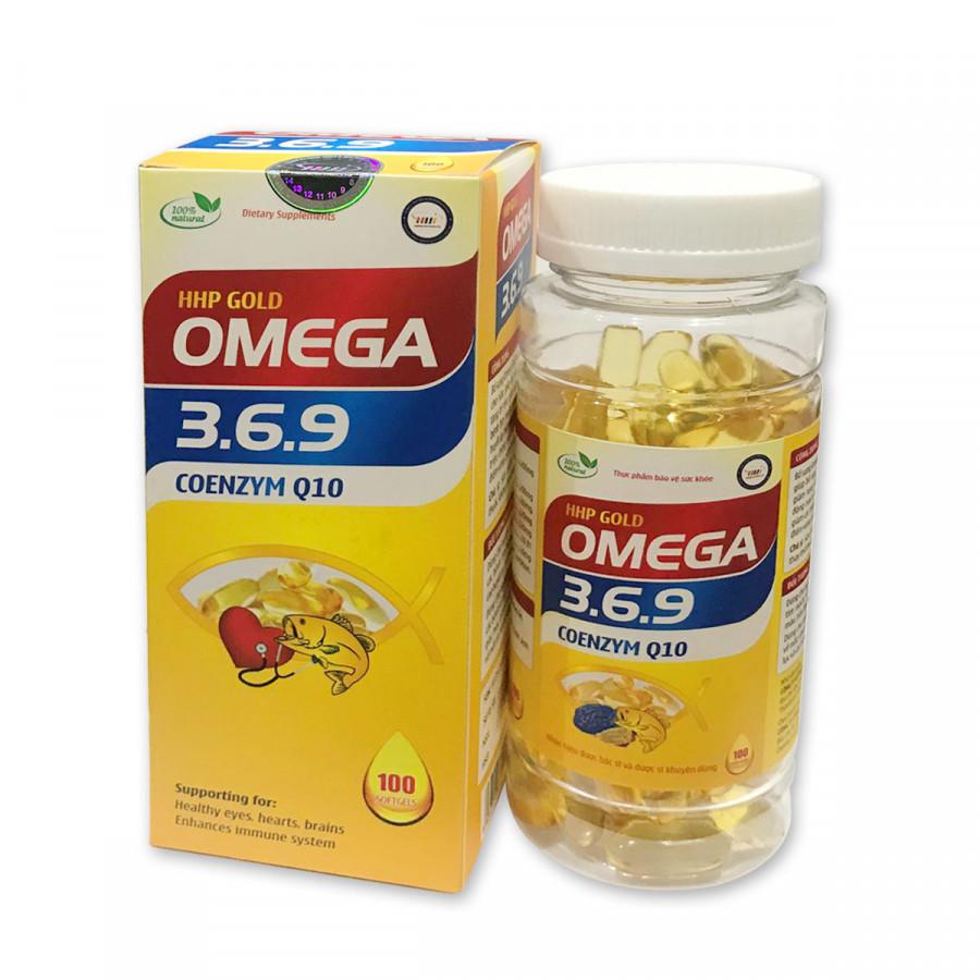 Thực phẩm chức năng Viên uống bổ sung Omega 3.6.9 coenzym Q10 (100 Viên)