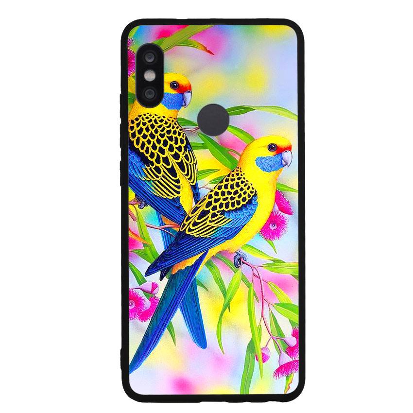 Ốp lưng nhựa cứng viền dẻo TPU cho điện thoại Xiaomi Redmi Note 5 Pro - Couple Bird