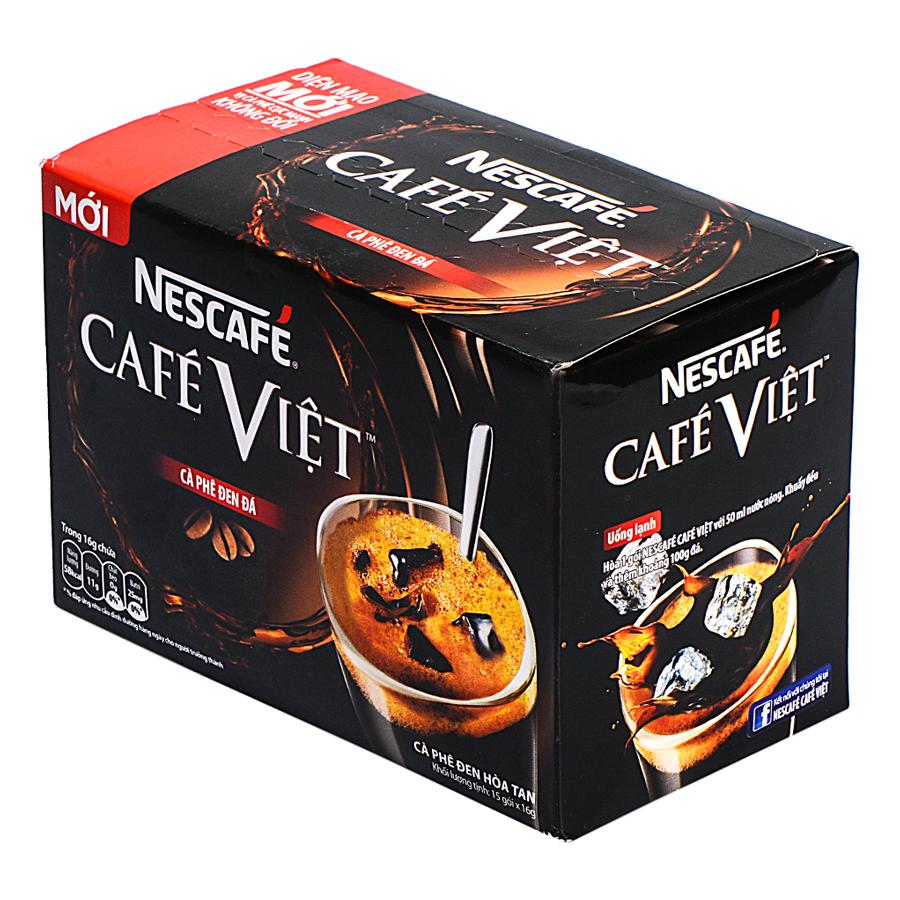 Cà Phê Đen Đá Café Việt Nescafé (15 gói x 16g)