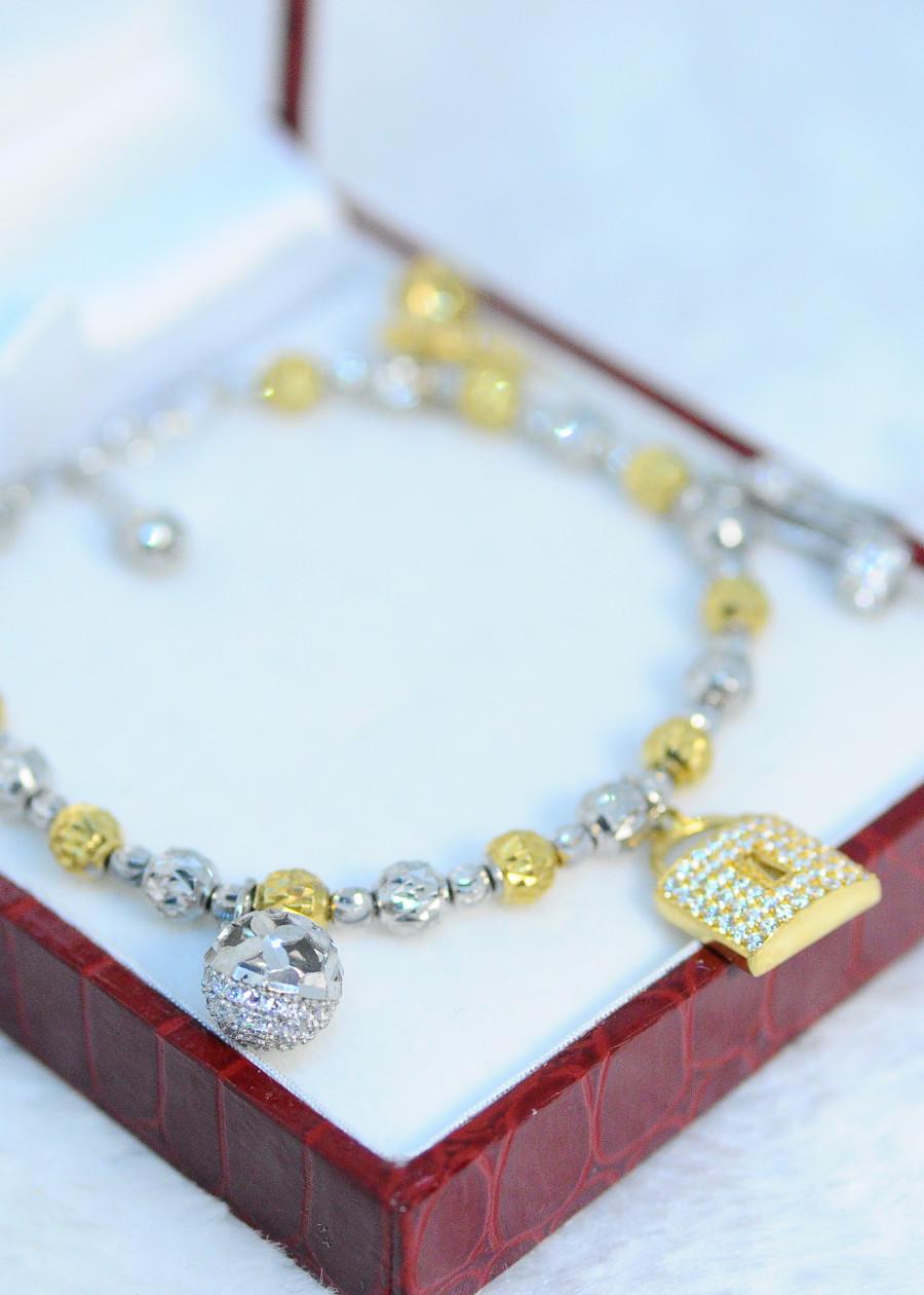Lắc tay 5 charm bạc xi vàng 18k - 7410200 , 4003030903668 , 62_15377467 , 620000 , Lac-tay-5-charm-bac-xi-vang-18k-62_15377467 , tiki.vn , Lắc tay 5 charm bạc xi vàng 18k