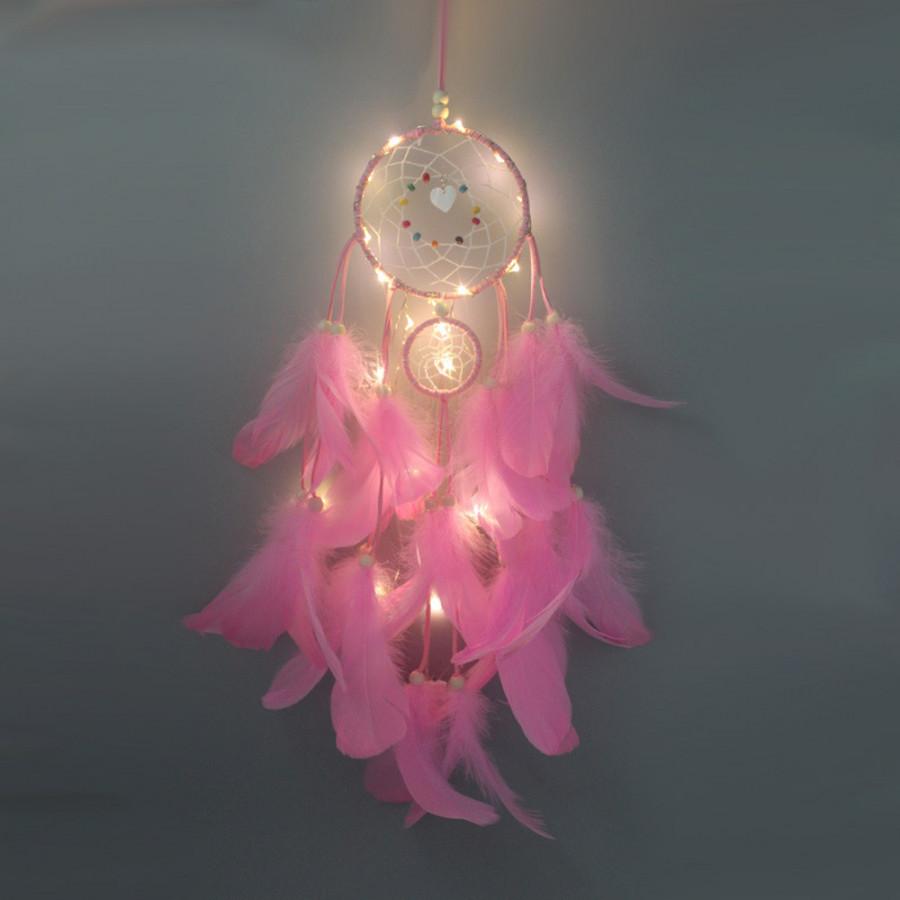 Dream Catcher Handmade Có Gắn Đèn LED