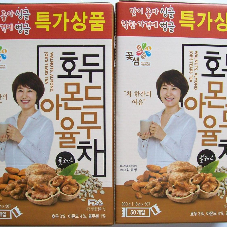Combo 2 hộp bột ngũ cốc Kkoh Shaem Foof Hàn Quốc 50 gói (900g)
