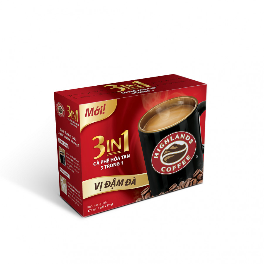 Cà phê Highlands coffee 3in1 hòa tan (10 gói x 17g)