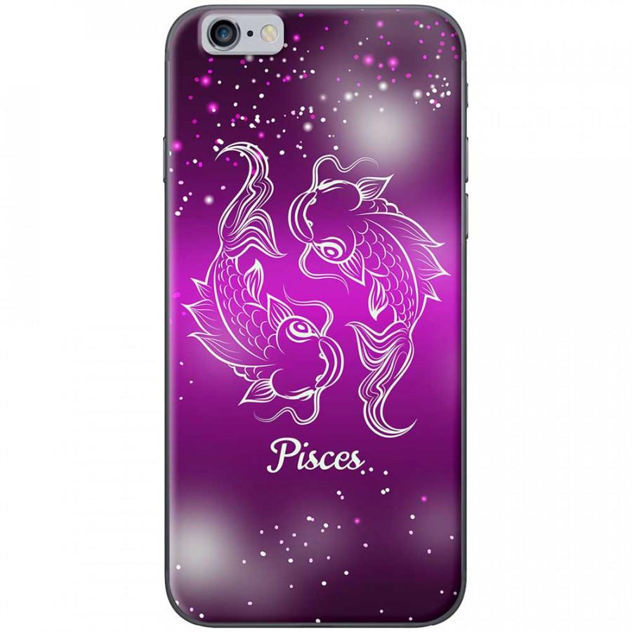 Ốp lưng  dành cho iPhone 6, iPhone 6s mẫu Cung hoàng đạo Pisces (hồng)
