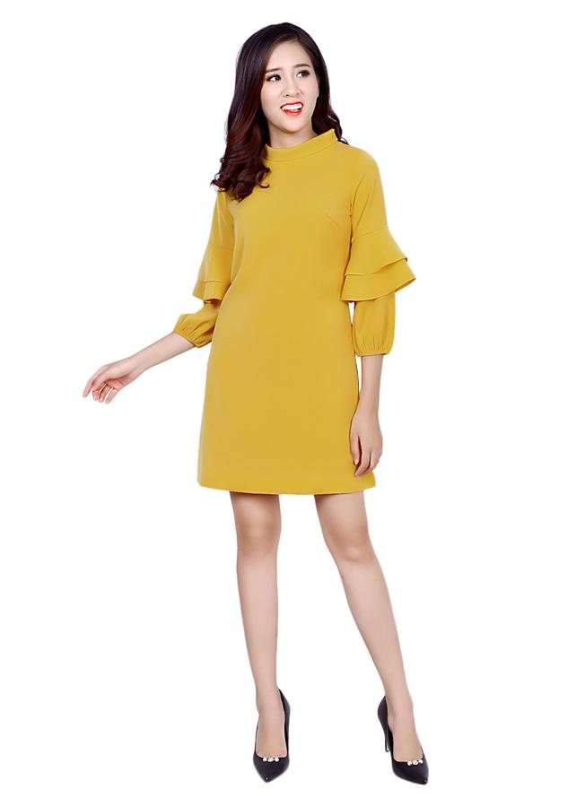 Đầm Suông Tay Chun Chelle C63O18T123-NS27 - Vàng