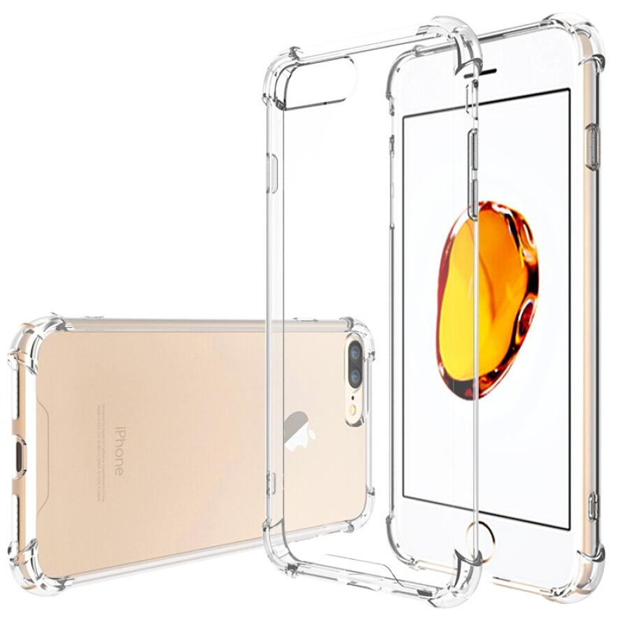 Ốp Lưng Silicon-PC Cho iPhone 7Plus Escase - Trong Suốt