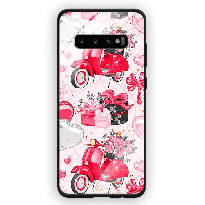 Ốp Lưng Kính Cường Lực Cho Điện Thoại Samsung Galaxy S10 Plus - 391 0101 VESPA - Hàng Chính Hãng