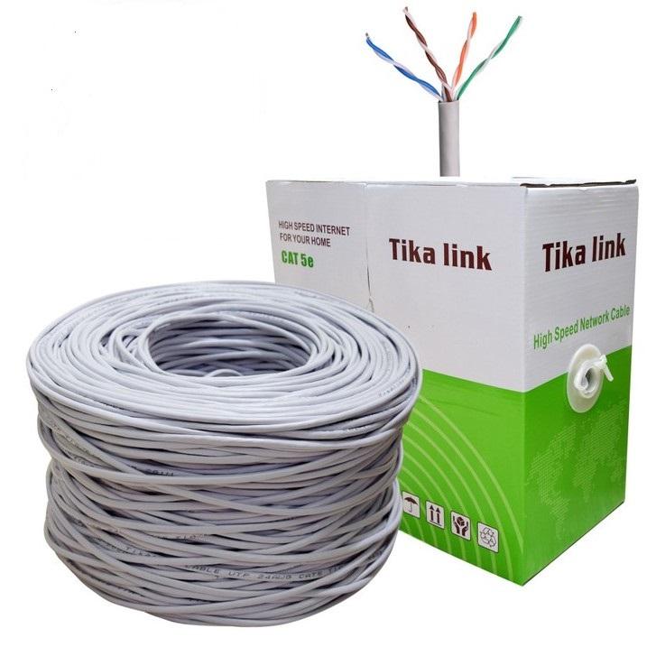 Thùng cáp Mạng truyền tín hiệu Cat 5 TiKaLink 305m 8 Lõi Nhôm - 1710996 , 1804789456671 , 62_11890957 , 450000 , Thung-cap-Mang-truyen-tin-hieu-Cat-5-TiKaLink-305m-8-Loi-Nhom-62_11890957 , tiki.vn , Thùng cáp Mạng truyền tín hiệu Cat 5 TiKaLink 305m 8 Lõi Nhôm