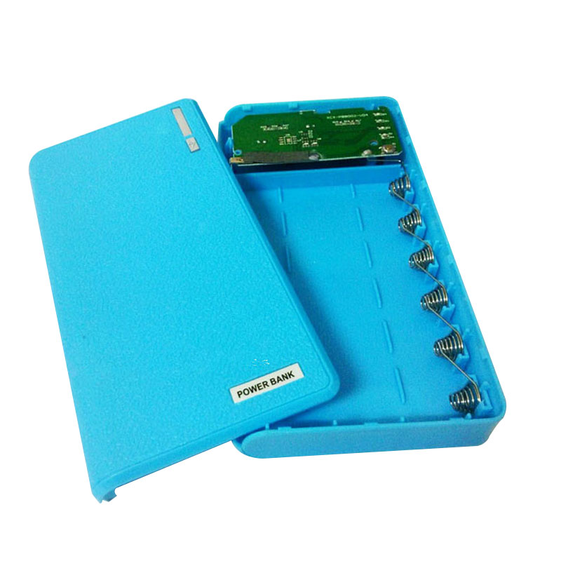 Dual Usb Power Bank Free Welding 6X18650 Battery Charger Box For Mobile