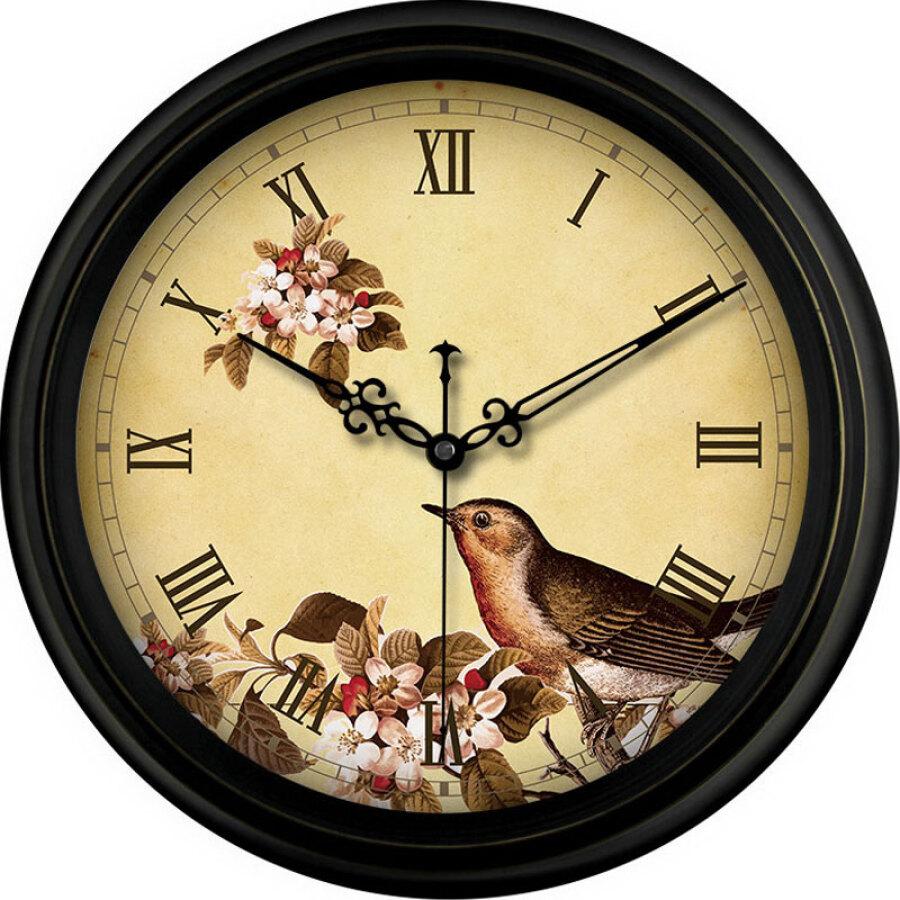 Momen retro wall clock European mute antique living room wall clock wall clock quartz clock F11