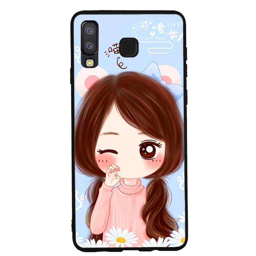 Ốp lưng viền TPU cao cấp cho điện thoại Samsung Galaxy A8 Star -Baby Girl