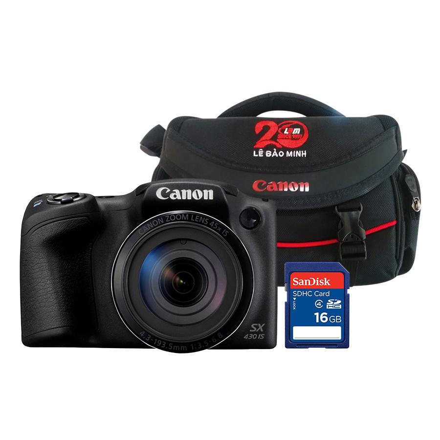Máy Ảnh Canon PowerShot SX430 IS (Tặng Kèm Thẻ Nhớ Và Túi Đựng Máy Ảnh) - Hàng Chính Hãng - 23100872 , 6632857301562 , 62_23461630 , 6400000 , May-Anh-Canon-PowerShot-SX430-IS-Tang-Kem-The-Nho-Va-Tui-Dung-May-Anh-Hang-Chinh-Hang-62_23461630 , tiki.vn , Máy Ảnh Canon PowerShot SX430 IS (Tặng Kèm Thẻ Nhớ Và Túi Đựng Máy Ảnh) - Hàng Chính Hãng