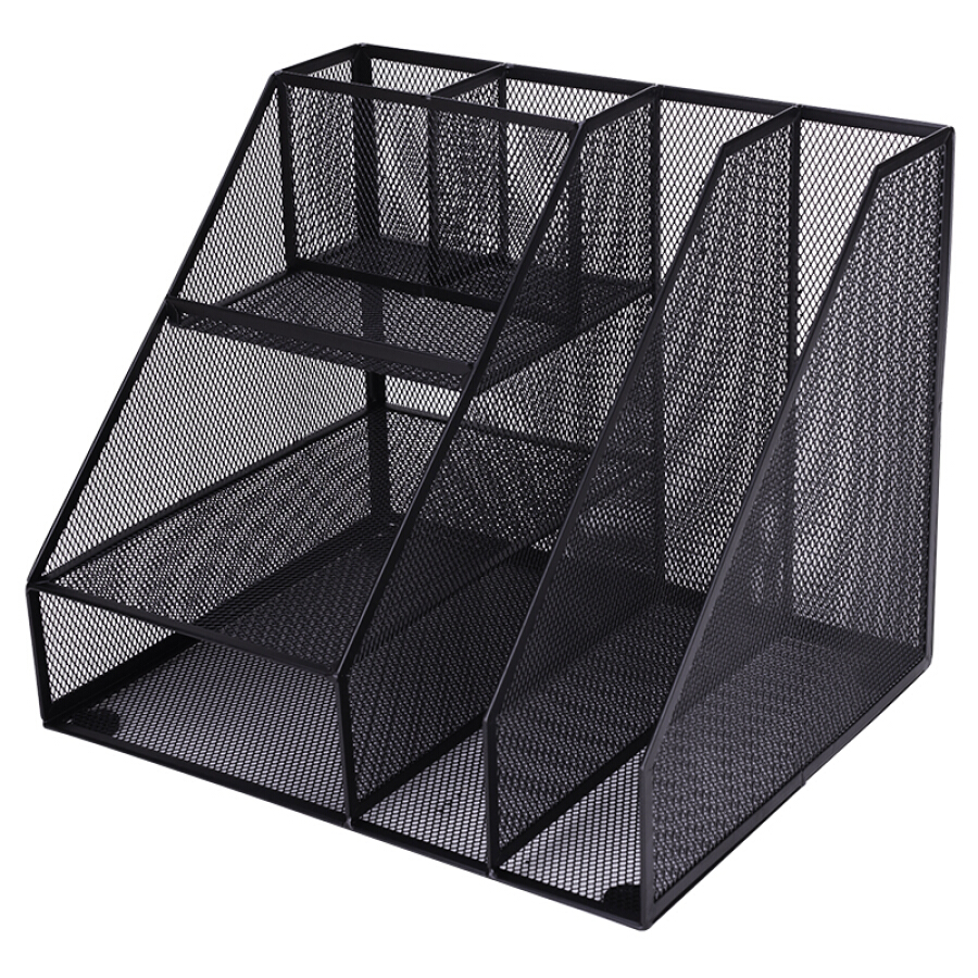 Deli (deli) metal mesh office file box file rack multi-function data rack storage ornaments black 79075 - 815269 , 2864434657562 , 62_10492423 , 605000 , Deli-deli-metal-mesh-office-file-box-file-rack-multi-function-data-rack-storage-ornaments-black-79075-62_10492423 , tiki.vn , Deli (deli) metal mesh office file box file rack multi-function data rack st