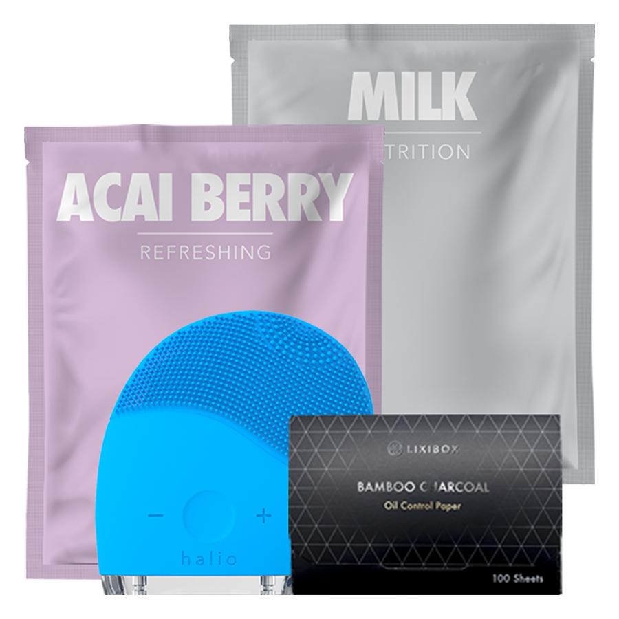 Combo Máy Rửa Mặt Và Mát Xa Da Mặt Halio + 2 Mặt Nạ Lixibox Milk Và Acai Berry + Giấy Thấm Dầu Than Hoạt Tính Tre Lixibox - 1480172 , 9850376578914 , 62_10915871 , 925000 , Combo-May-Rua-Mat-Va-Mat-Xa-Da-Mat-Halio-2-Mat-Na-Lixibox-Milk-Va-Acai-Berry-Giay-Tham-Dau-Than-Hoat-Tinh-Tre-Lixibox-62_10915871 , tiki.vn , Combo Máy Rửa Mặt Và Mát Xa Da Mặt Halio + 2 Mặt Nạ Lixibox